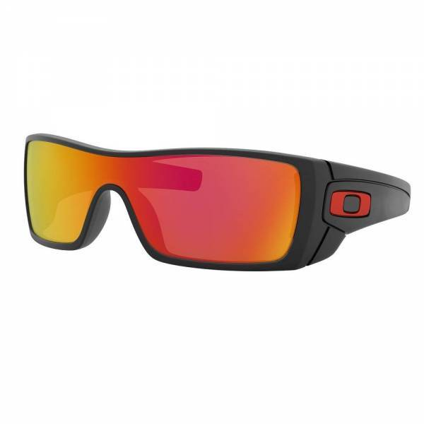 Oakley Batwolf Custom Matte Black - Ruby Iridium - Anodized Red Icon Napszemüveg