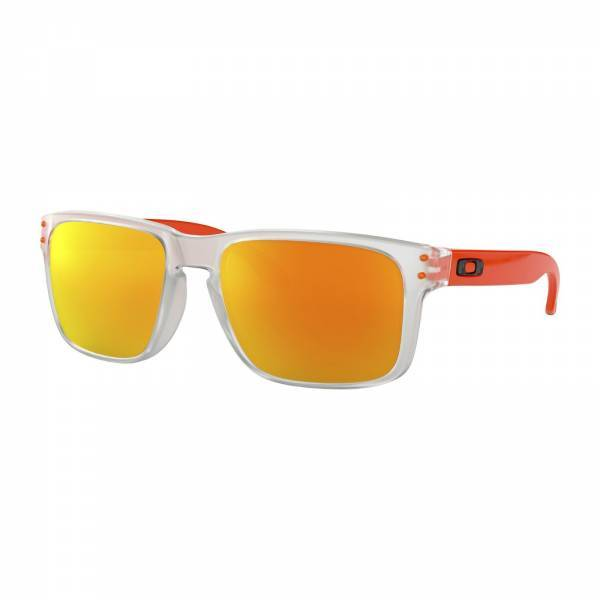 Oakley Holbrook Matte Clear / Matte Translucent Orange - Fire Iridium Napszemüveg