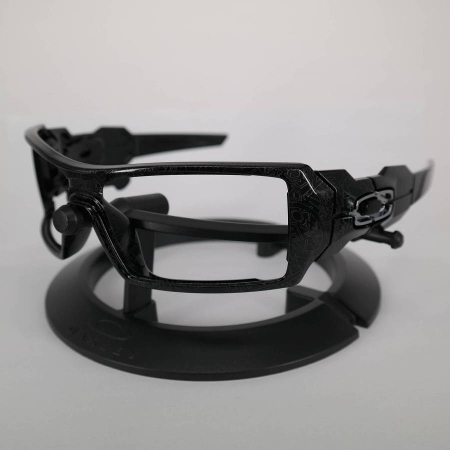 Oakley Oil Rig Frame - Polished Black Silver Ghost Text Keret-61-244